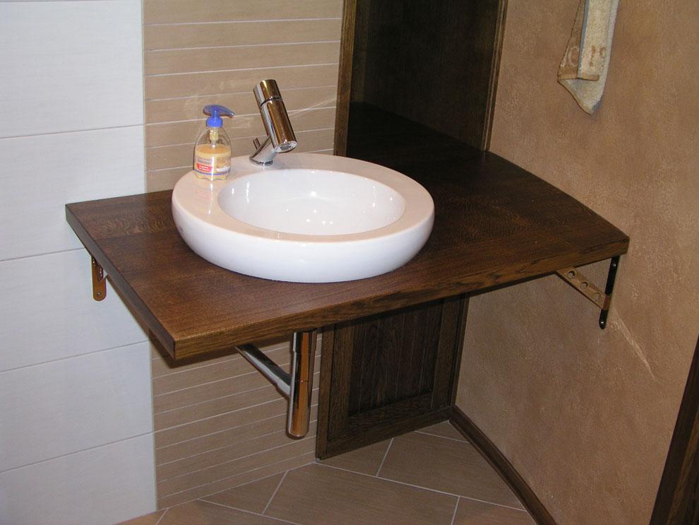 Полка в ванной под раковину своими руками 29